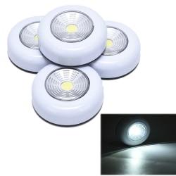1PC COB Motion Sensor LED Night Light Closet Bedroom Touch Cont White