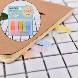 1Pc Stick Markers Book Page Index Flag Sticky Notes Office Scho