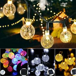 20 30 50 LED String Lights Outdoor Solar Garden Wedding Party Fe White 5M20LED