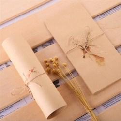 20Pcs Animal Elk Deer Letter Paper Cover Envelope Set Retro Kraf E