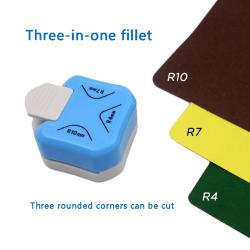 3 in1 mini hörntrimmer hållbar rundare stans R4 / R7 / R10mm roun