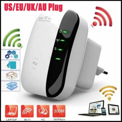 300M Wireless-N Wifi Repeater 2.4G AP Router Signal Booster Exte EU