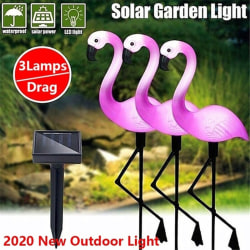 3Lamps/Drag New Led Solar Power Flamingo Lawn Garden Stake Lands three
