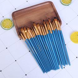 5Pcs Paint Brushes Set Nylon Short Rod Watercolor Pen Profession B