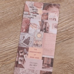 6.4*46cm Vintage Newspaper Tape DIY Decoration Scrapbooking Tape 6