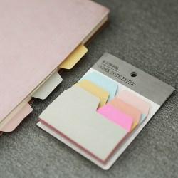 6 färger söt anteckningsbok anteckningsbok papper kort klistermärke anteckningsbok