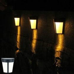 6 LED Solar Power Lamp PIR Motion Sensor Wall Light Outdoor Wate Warm light