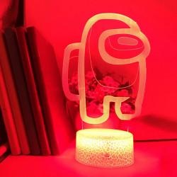 7/16 Colors Friends Game Among Us 3D Illusion Desktop Lamp LED  Type 1 Black base +16 colors