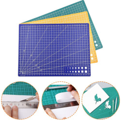 A5 Grid Line Self Healing Cutting Mat Craft Card Fabric Leather  blue