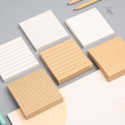 Blank Grid Memo Pads Sticker School Supplies Post Sticky Notes O A5