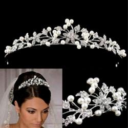 Bride Pearls Hair band Hair jewellery Hair comb Headband Wedding one size