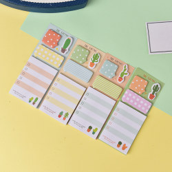 Cactus Kawaii Memo Pad Sticky Notes Cute Office Supplies Bookma