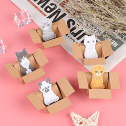Cartoon brevpapper klisterlappar kontorsskolmaterial 3D Cat D.