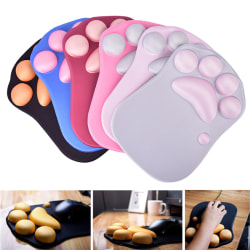 Cat Paw Pattern Silicone Gel Mouse Mat Soft Wrist Pad Wrist Rest Gray