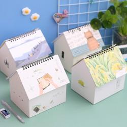 Creative Folding House Desk Calendar Van Gogh Calendars Desktop  D