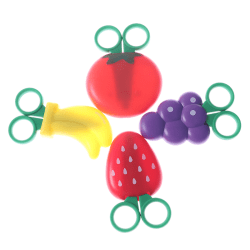 Cute Scissors Children''s Fruit Shape Student Office Supplies C