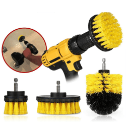 Drill Brush Set Power Scrubber Drill Attachments For Carpet Tile one size