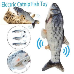 Electronic Pet Cat Toy Electric USB Charging Simulation Fish Toy A