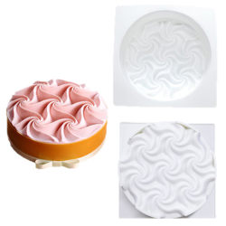 Flowers Cake Mold Baking Dessert Mousse Silicone 3D Mould Pastr one size
