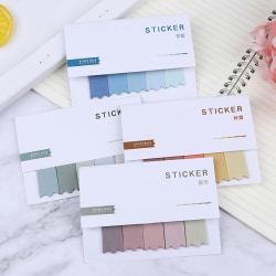 Gradient Color Sticky Note Message Pad Diary Mark Adhesive Pape H