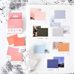 Inspiration Color Card Bullet Journal Box Stickers Scrapbooking