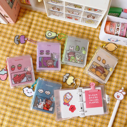 Kawaii 70 Sheet 3 Ring Loose-leaf Mini Pocket Diary Notebook Pla Avocado