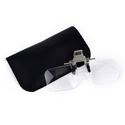Loupe Eyeglass Lens Folding Magnifying Glasses Clip On Precise