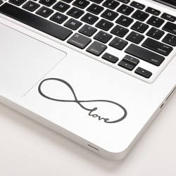 Love Infinity Vinyl Decal Sticker Skin for Macbook Laptop Pro Ai