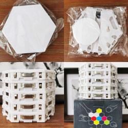 Modern LED Quantum Lamp Modular Light Touch Sensitive Lighting L White 10PC with adapter EU