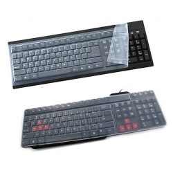 New 1PC Universal Silicone Desktop Computer Keyboard Cover Skin  Transparent 34cm*15cm*0.1cm