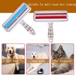 Pet Hair Remover Sofa Clothes Lint Cleaning Brush Reusable Dog C Red