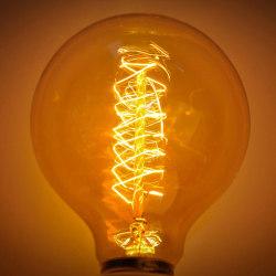 Retro Edison Bulb E27 220V 40W Soft Spiral LED Filament Bulb G80
