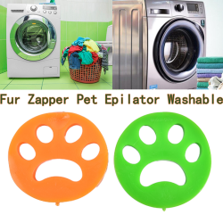 Reusable Pet Hair Remover Brush, Cat Lint Dog Fur for Laundry Wa Green