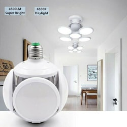 Super Bright LED Bulb Deformable Garage Ceiling Lights E27 30W F