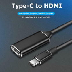 Type-C to HDMI HD TV Adapter USB 3.1 4K Converter For PC Laptop  Silver