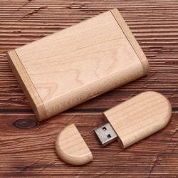 U Disk Storage Memory Stick Portable USB 3.0 8GB 16GB 32GB 64GB  bamboo Ellipse 16G 3.0