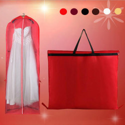 Wedding Dress Dust Cover Gown Dustproof Cover Foldable Clothes S White 180CM
