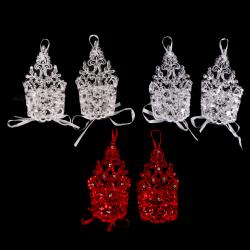 Wrist Flower Lace Bridal Gloves Wedding Gloves Dress Short Parag Red