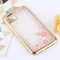 iPhone 11 Transparent Skal Guld Transparent