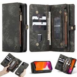 iPhone 12/12 Pro CaseMe Plånbok Magnet splittläder Svart BlackAsh