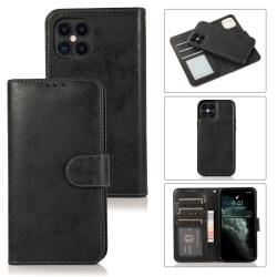 iPhone 12/12  PRO Plånbok Magnet Svart Svart