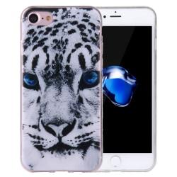 iPhone 8 Skal Leopard Blue Eye TPU