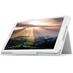 Samsung Galaxy Tab E 9.6 Fodral Vit Läder