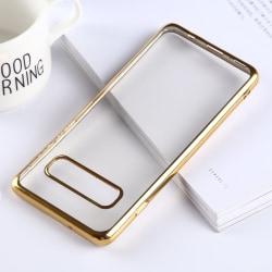 Samsung S10 Transparent Skal Guld Transparent