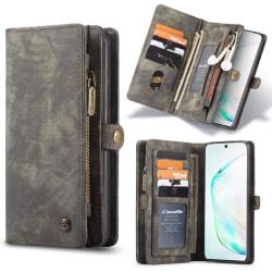 Samsung S20 CaseMe Plånbok Magnet Läder  Dark Smoke Svart aska