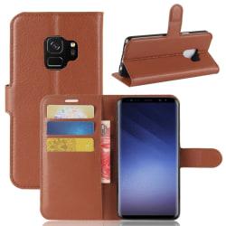 Samsung S9  Plånbok Läder Coffee