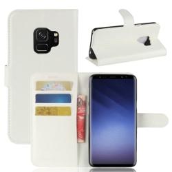 Samsung S9  Plånbok Läder Vit