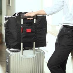 Väska med fäste för kabinväska Svart