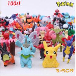 100 st Mycket Fina Söta Pokémon Figurer Pokemon Innehåll Pikachu