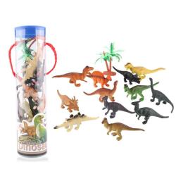 12st Dinosaurie modell plast leksak handgjorda figurer